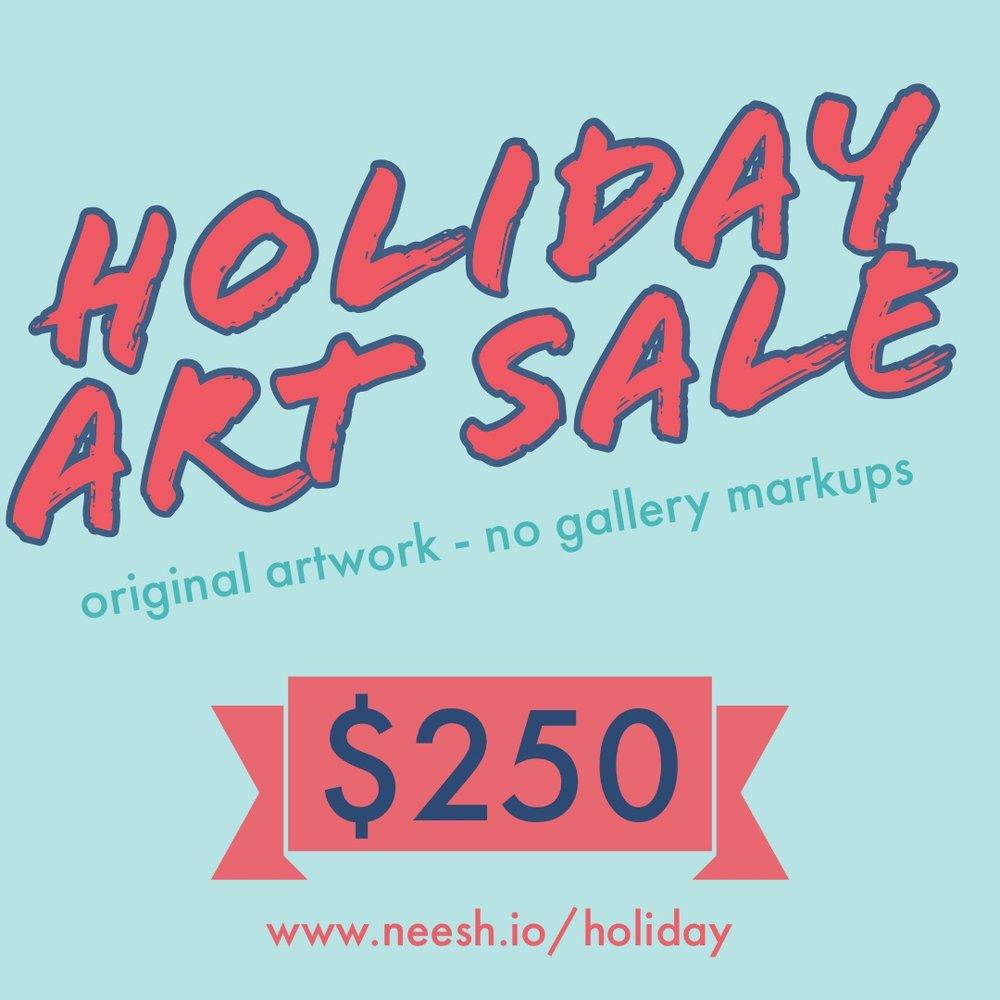 Neesh Holiday Art Sale.JPG