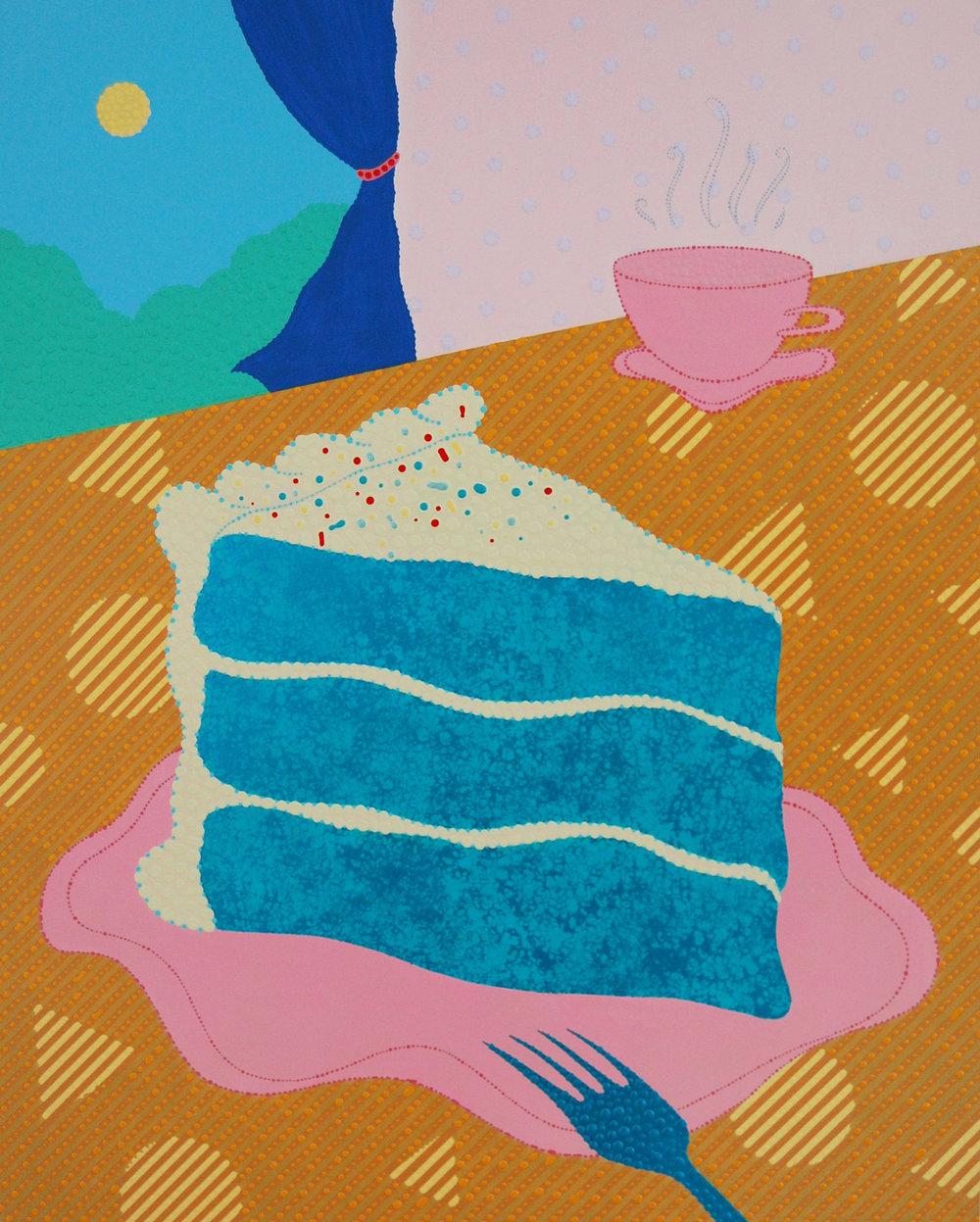 "Eric Hibit,  Blue Velvet , 20"" x 16"", Acrylic on panel, 2018"