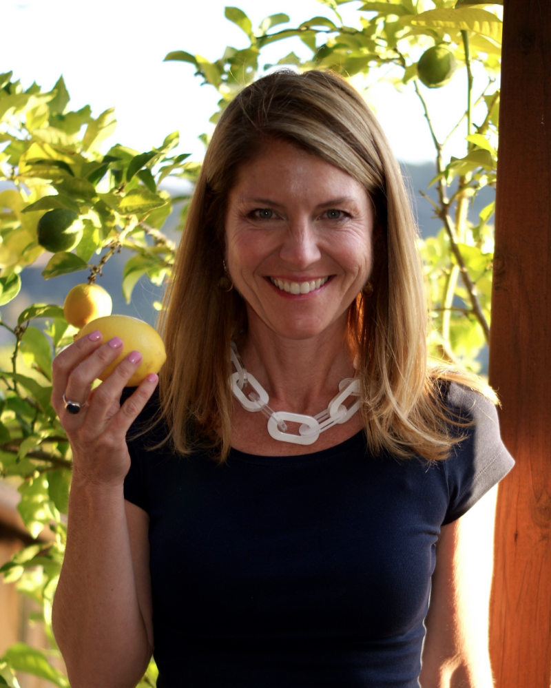 Me and my lemon tree. One of the happiest things about being a California transplant from the east coast is the excitement of having my own lemon tree.