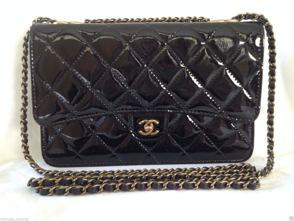 Chanel Black Patent Leather WOC. Price withheld to spare my husband a heart attack.