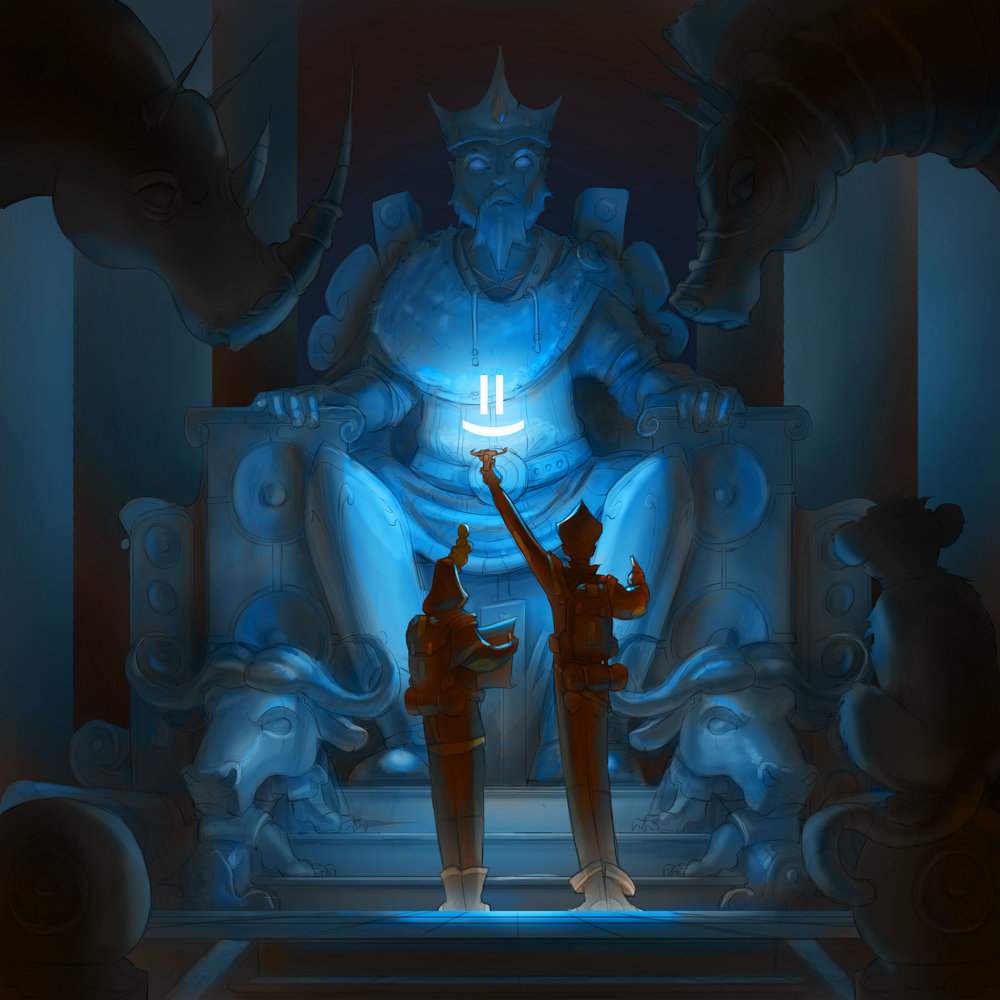 I the AI illuminating an ancient statue...