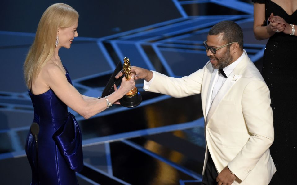 WHEN JORDAN PEELE WON THAT OSCAR FOR GET OUT THOUGH YES YES!