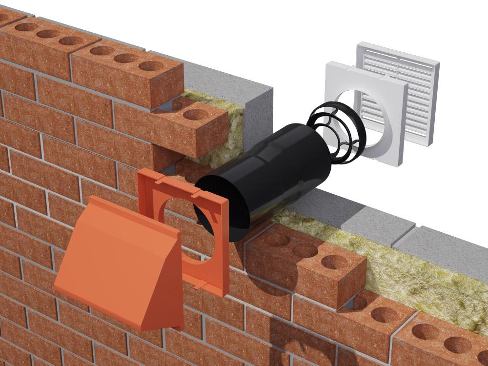 Action-chimneys-wall vent installation