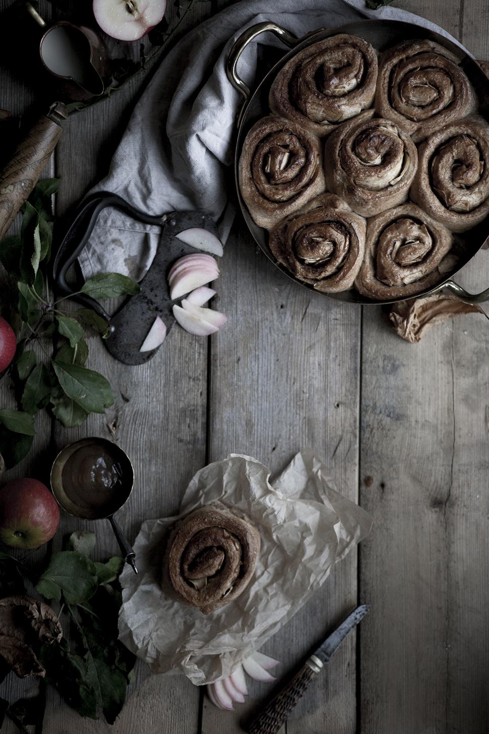 apple cinnamon buns #vegan