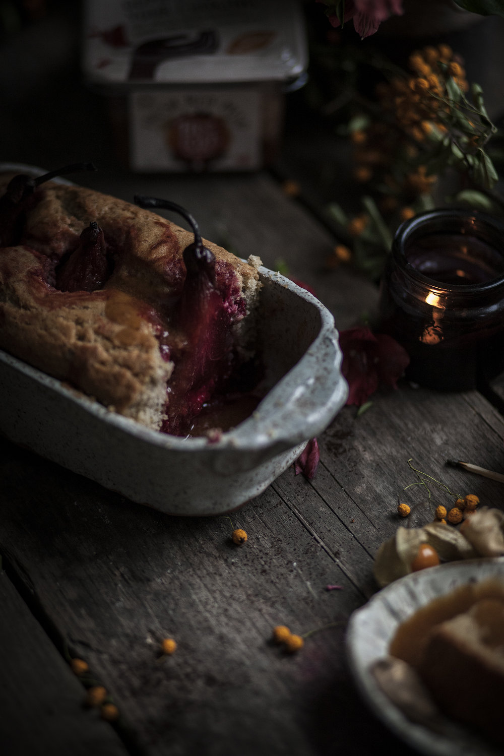 pears cranberries cake_salvialimone