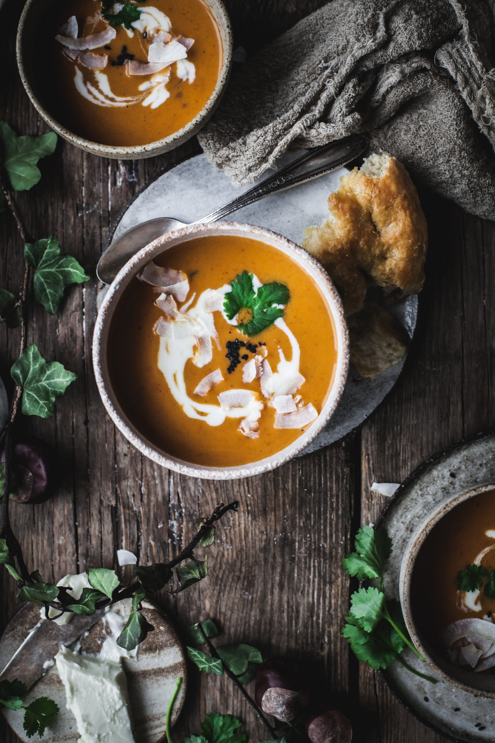 pumpkin and coriander soup