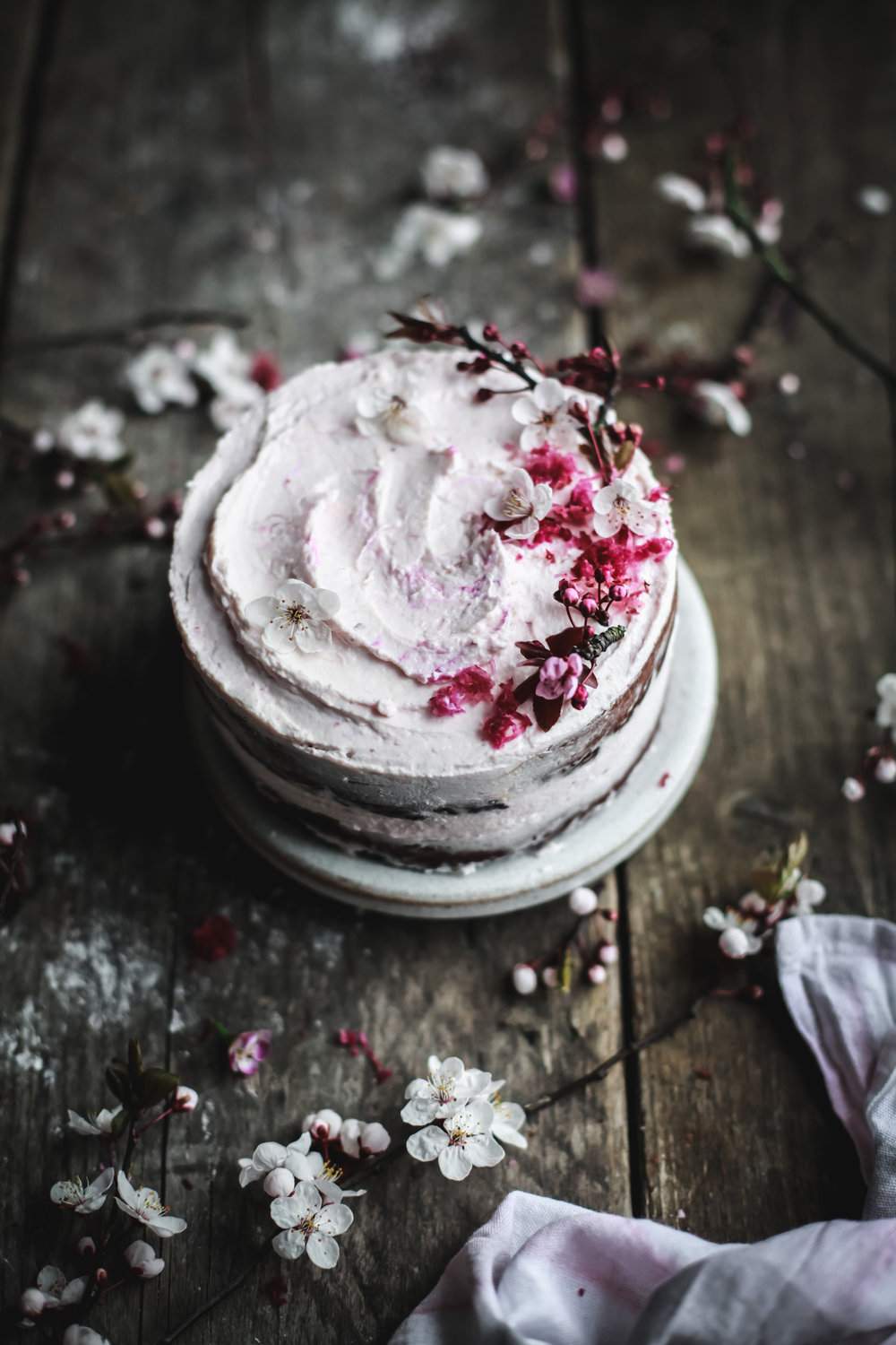 double chocolate cake with grated raw candy beets