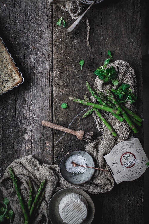 vegan goat cheese quiche