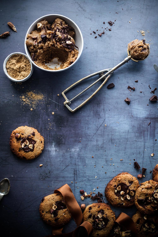 gooey vegan chocolate chips cookies #glutenfree
