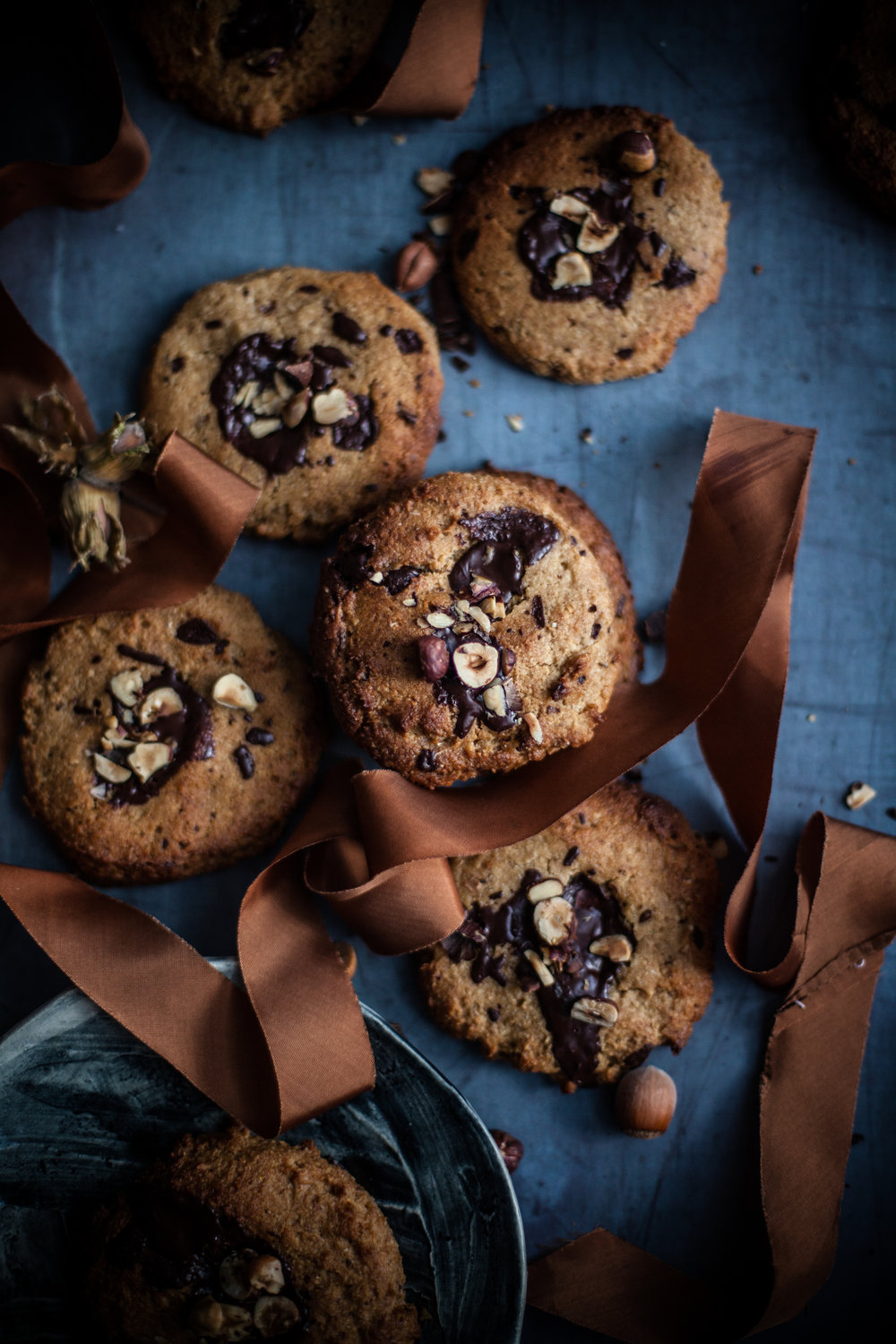 Gooey vegan choco chips cookies #glutenfree