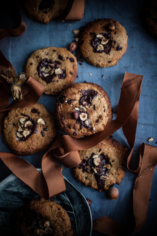 Gooey vegan choco chips cookies #glutenfree