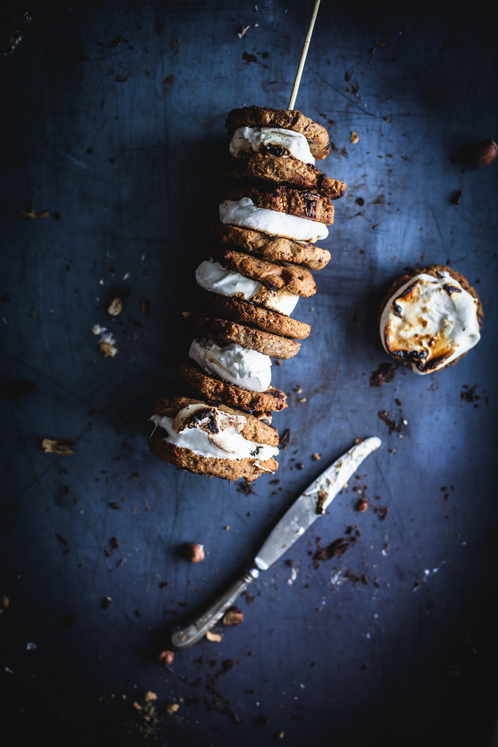 s'mores with choco chips cookies #vegan #glutenfree