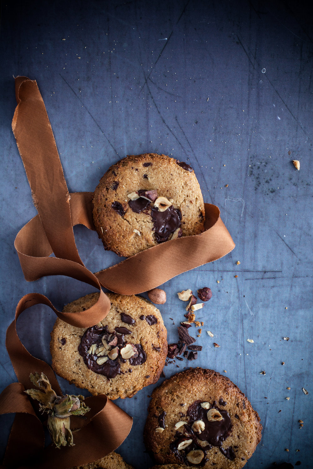 gooey chocolate chips cookies #vegan #glutenfree