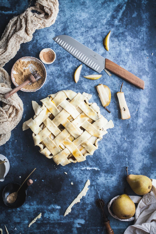 spiced pear tart