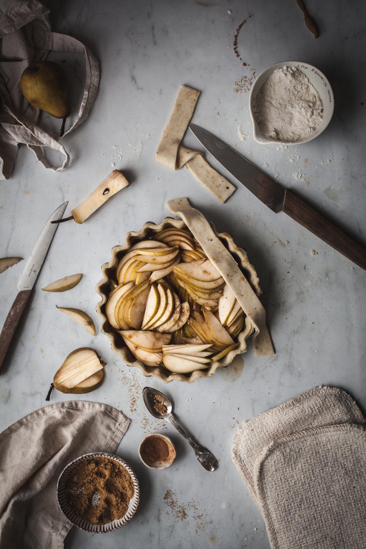 spiced pear tarts