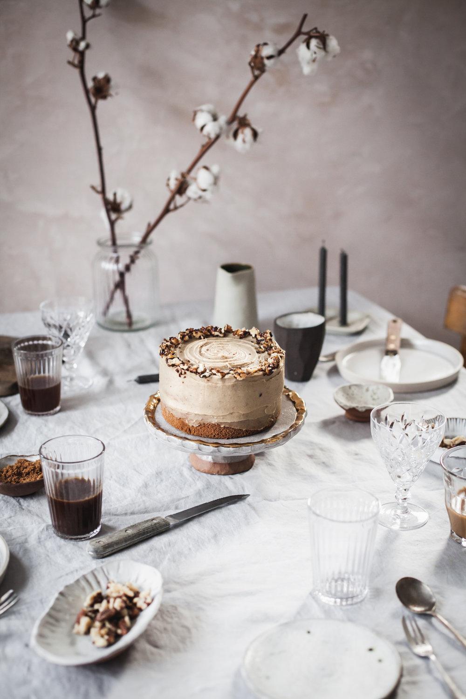 Caramelized walnut and chestnut cake #vegan