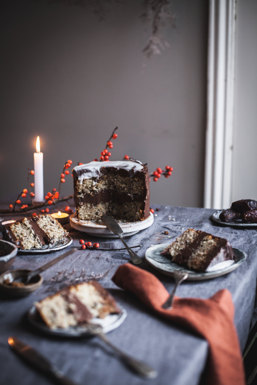 Clementine Triple Chocolate Cake #vegan