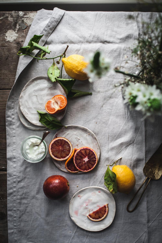 winter citrus for the lemon olive oil cake