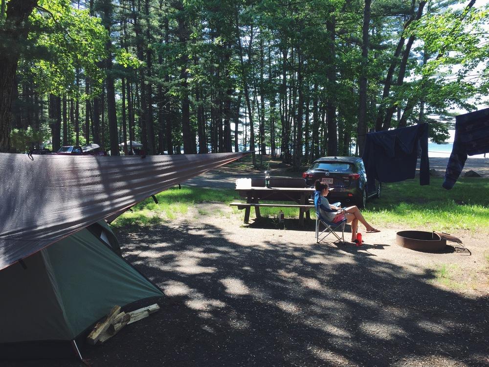 Sebago Lake State Park Campsite