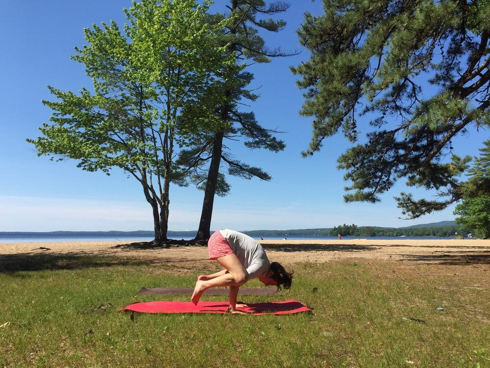 Sebago Lake State Park Yoga Larisa