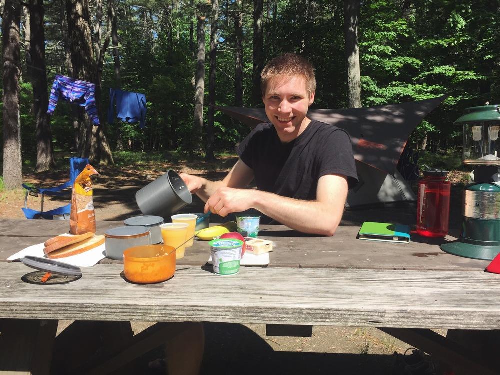 Sebago Lake State Park Campground Breakfast