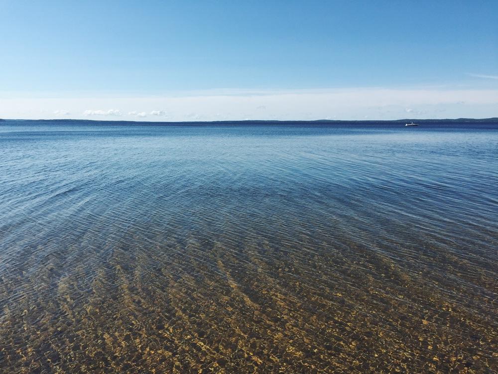Lake Sebago Clear Blue Water