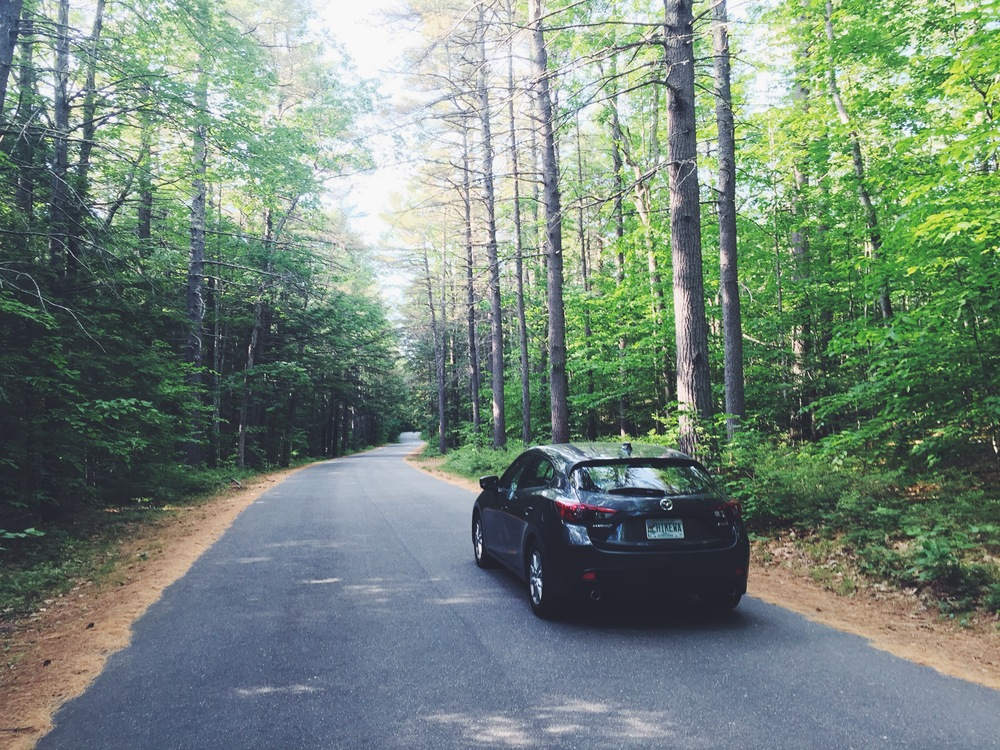 My Mazda 3 at Lake Sebago State Park