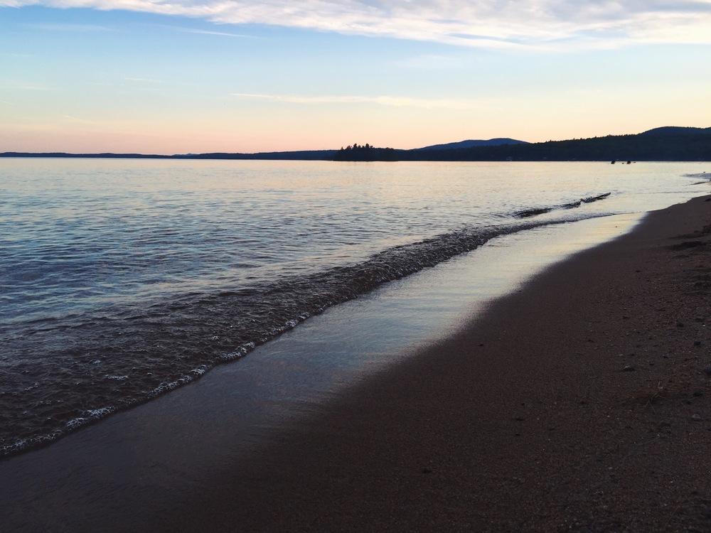Lake Sebago at Dusk