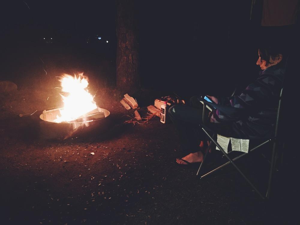 Lake Sebago Campfire