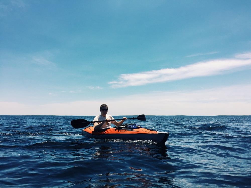 Lake Sebago Anton Kayaking