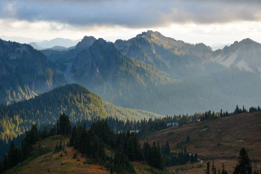 Evening light on Tatoosh Range