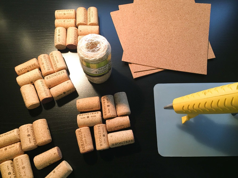 Wine Cork Coaster Supplies