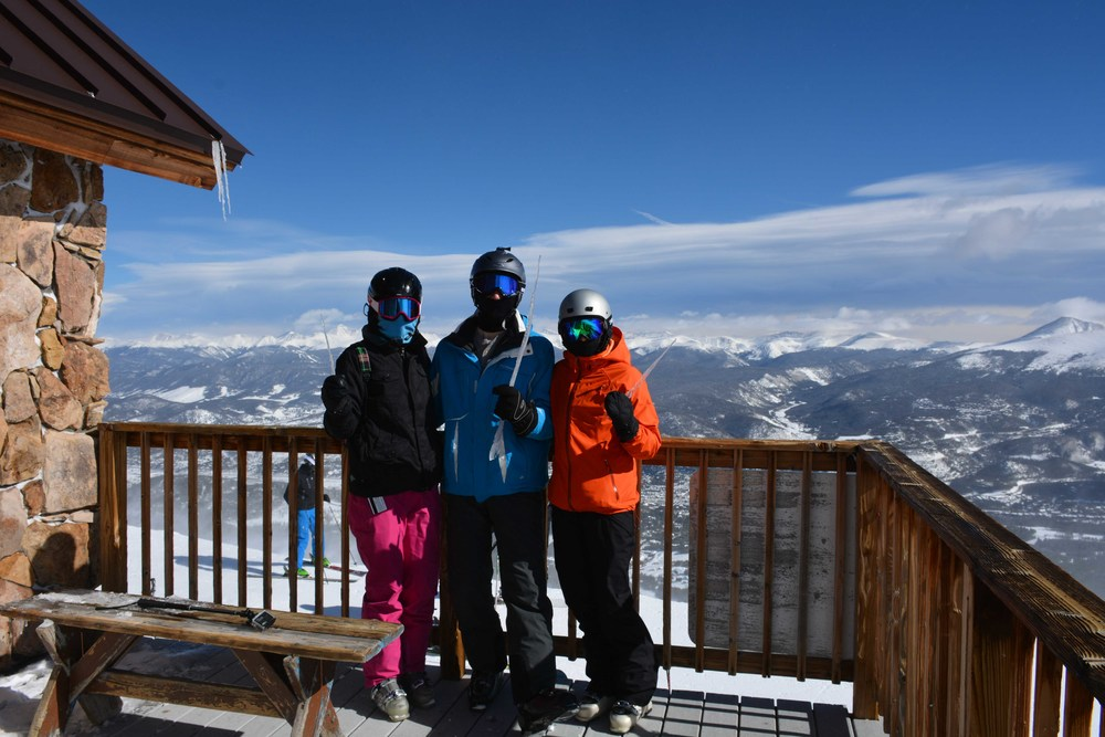 Top of Breckenridge - The Crew having some fun with ice