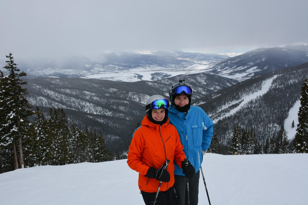 Larisa and Anton Snowy Day at Keystone