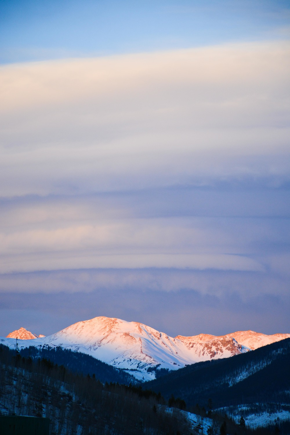 Alpenglow in Summit County - Frisco