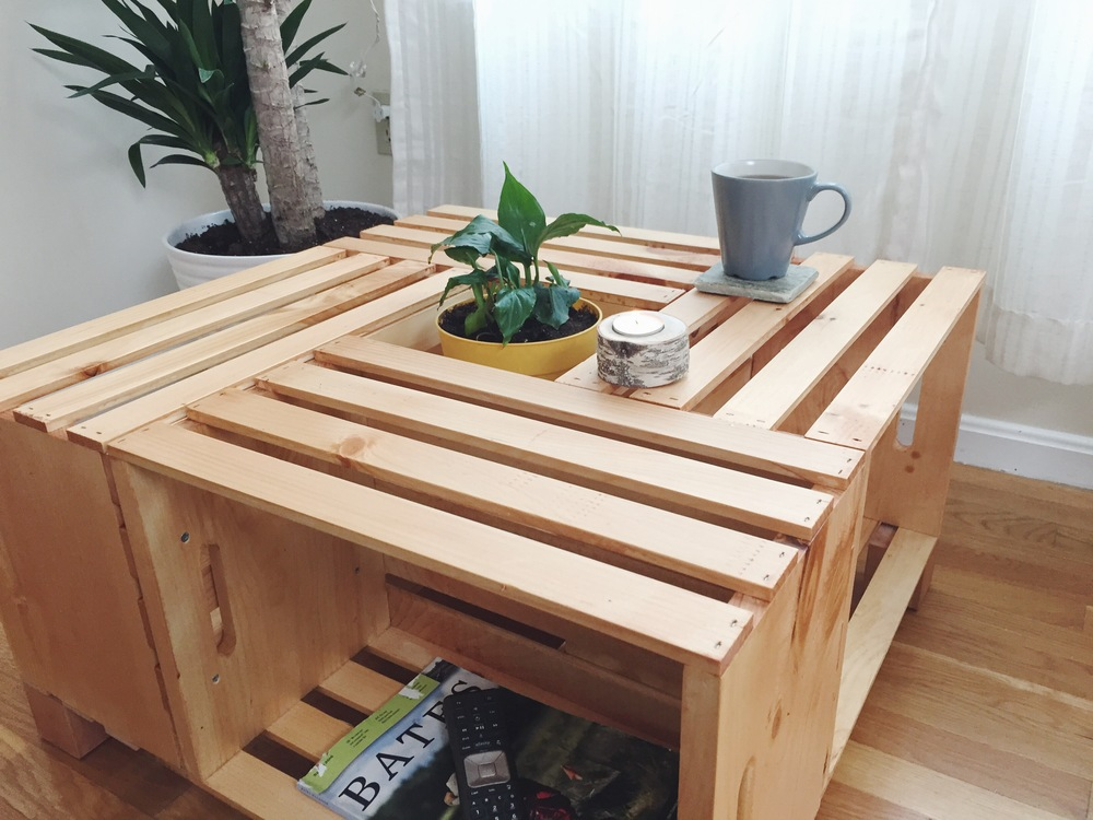 DIY Crate Coffee Table Anton Pugachevsky