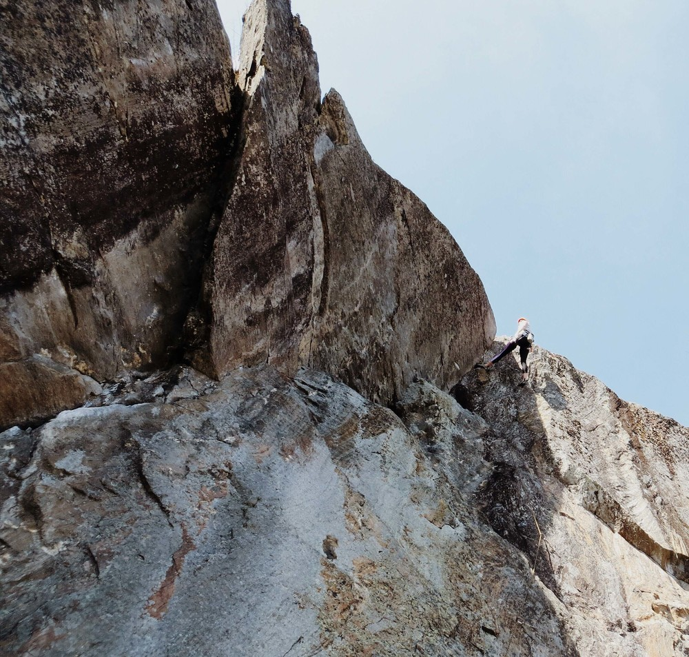Larisa Collins at the top of Land Ho! (5.8+)