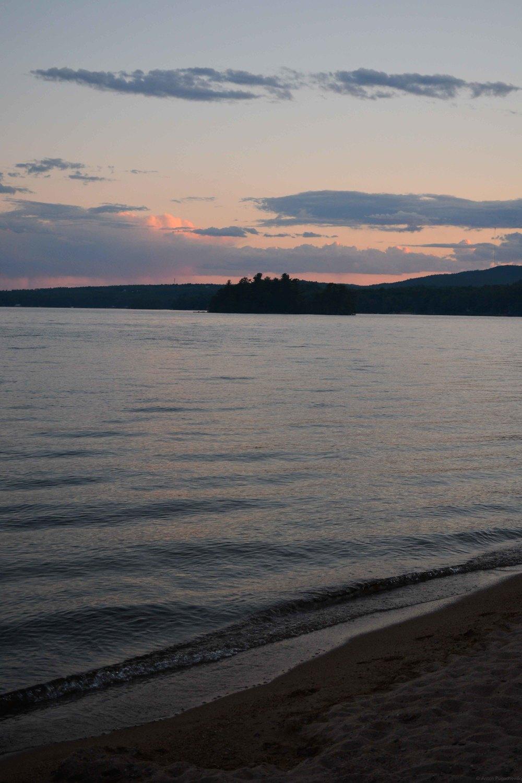 Quiet Evening at Sebago Lake