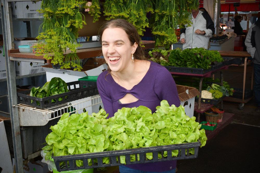 Marché Jean-Talon Montreal Lettuce Girl