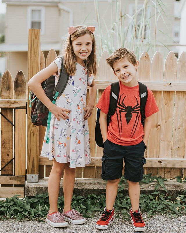 First day of school for this 4th grader and that 2nd grader.  I don't remember blinking away time but it clearly must have happened.  When did my littlest start becoming so big.