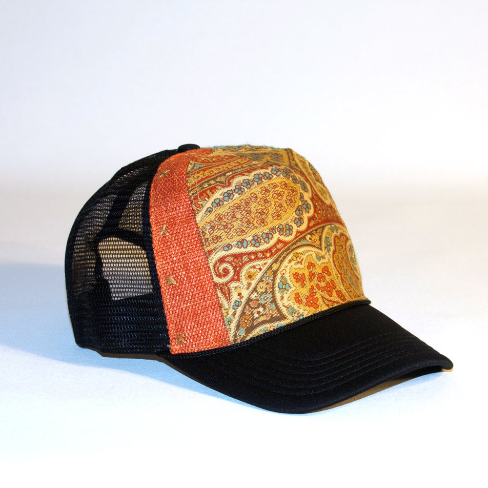 I-95 Trucker. truckerhat trucker cap hat handstiched couture slowcouture  vogue 2d2e09acfc7