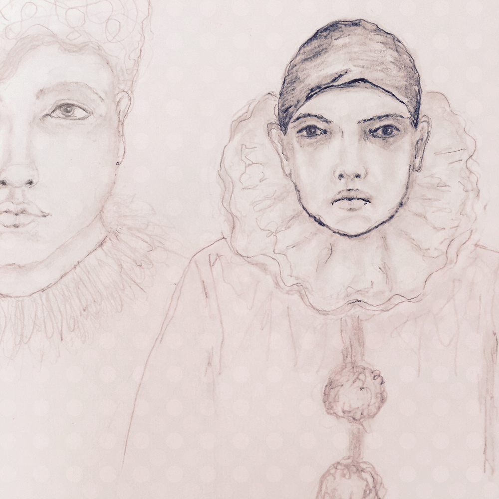 Robin Laws - pencil sketch  Pierrot