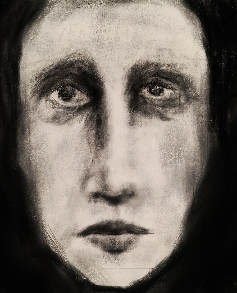 I created this image very late  at night using the deepest and darkest charcoal I could find. I have a lot of emotions connected to my art and this image has a story to tell that I do not yet know how to put into words.