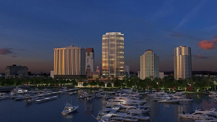 41-story ONE St. Petersburg (pictured center) has sold 123 of 253 units.