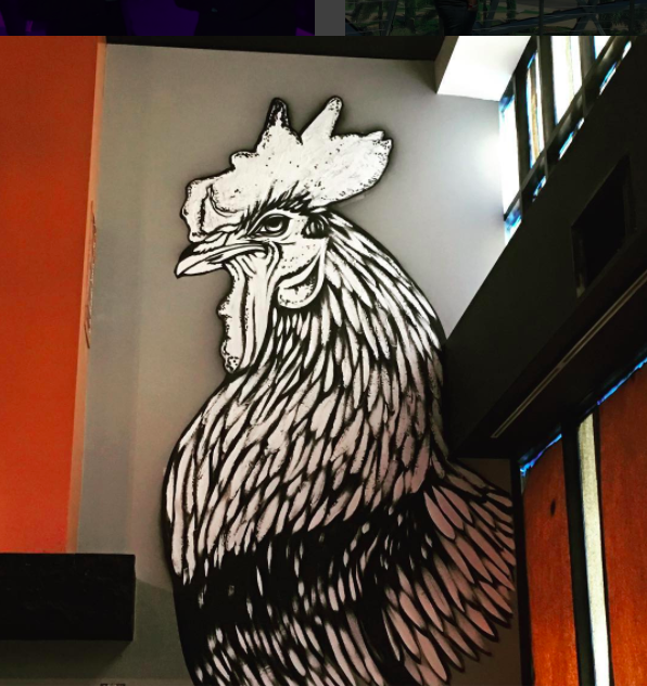 mural inside iberian rooster by the vitale brothers
