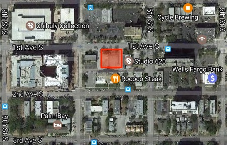 location OF NEW ORANGETHEORY FITNESS AND CAFE UNDER CONSTRUCTION AT 640 1ST AVE S