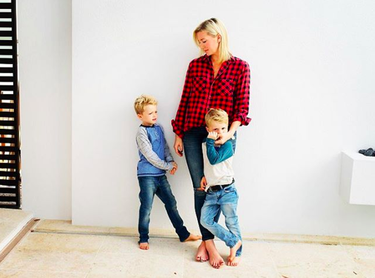 owner Susie Wheldon with her sons sebastian and oliver