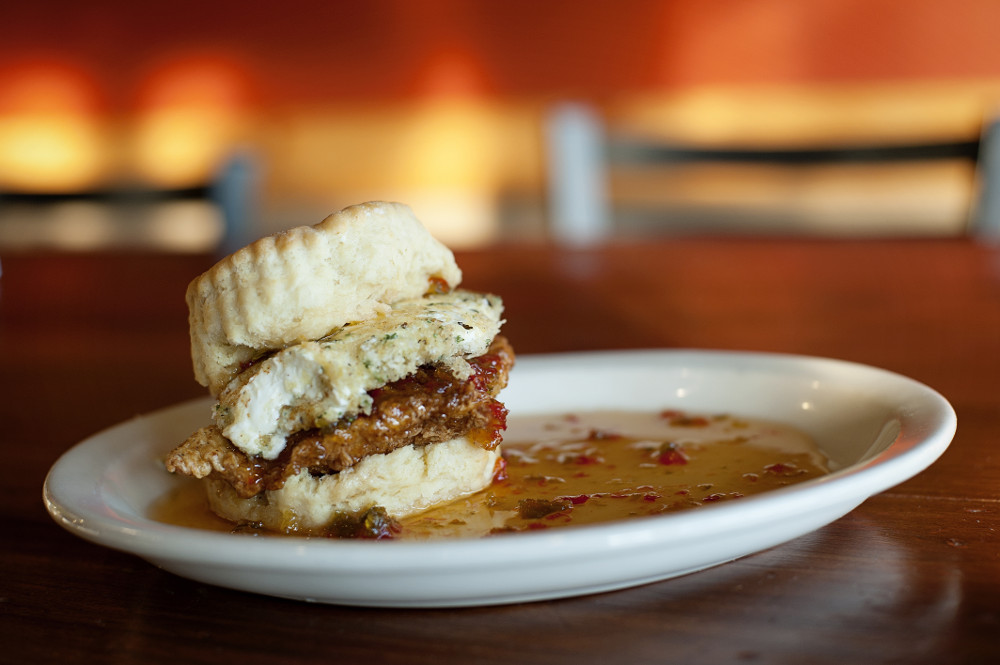 The most popular biscuit sandwich -- The squawking goat