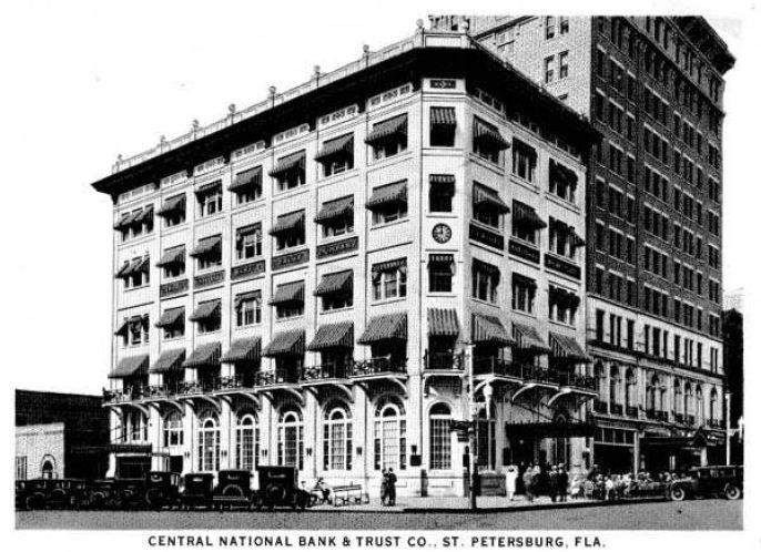 The CENTRAL National Bank and Pheil Hotel in the 1920s.
