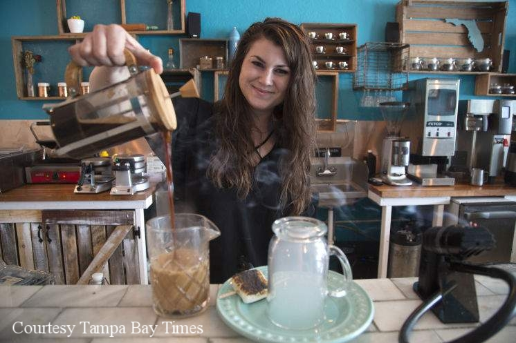 Owner Story Stuart at her previous establishment, Story Brooke Craft Coffee Bar